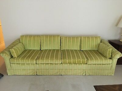 vintage couch - green velvet, excellent condition