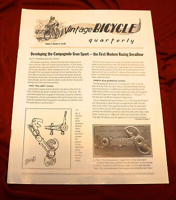 Vintage Bicycle Quarterly  Vol 2 #2 Developing The Campagnolo Gran Sport