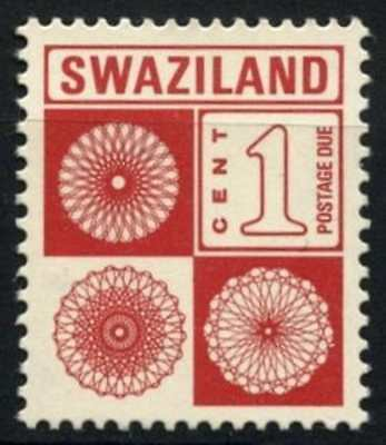 Swaziland 1985 SG#D19a 1c Brown Red Postage Due MNH #D58717