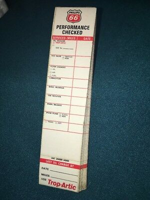 Vintage Phillips 66 Service Station Performance Check Pad Full