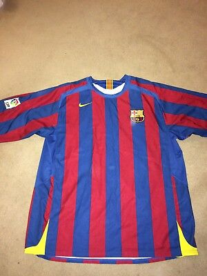 Nike 90 Barcelona football club men's red blue home kit size XXL, football shirt