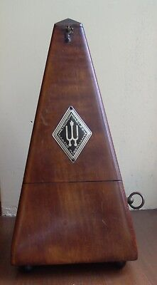 Vintage Metronome Maelzel made in Germany Wood