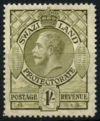 Swaziland 1933 SG#17, 1s Olive KGV MH #D58731