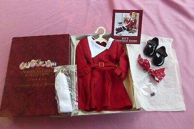 Kit American Girl  Doll Christmas outfit NIB Older magnetic pin, snap shoe