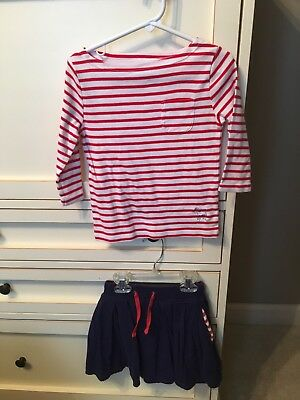 Mini Boden Top And Skirt Size 4-5