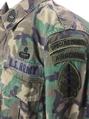 Vintage Vietnam US Special Forces Jungle Expert Army Combat Shirt Pant Small