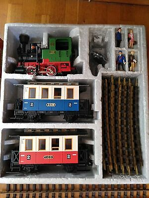 LGB steam starter set + 4 straight tracks