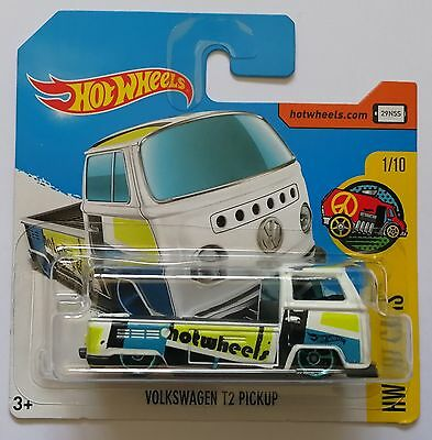 Hot Wheels 2017 NEW MODELS - VW VOLKSWAGEN T2 PICKUP *Awesome* SHORT CARD