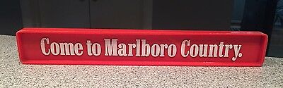 """Vintage 14"""" Come to Marlboro Country Where Flavor Is Horizontal Sign 2 Sided"""