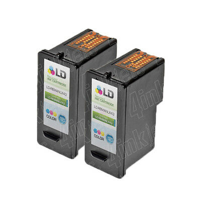 2pk 18Y0143 43XL 43 XL High Yield Color Printer Ink Cartridge for Lexmark
