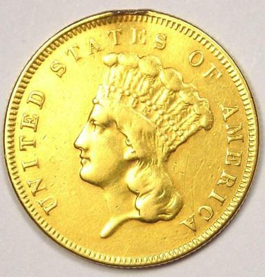 1855 Indian Three Dollar Gold Coin ($3) - XF Details (EF) - Rare Coin!
