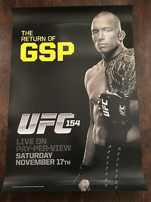 UFC 154 GEORGES ST-PIERRE PROMOTIONAL POSTER, 27x39, GSP