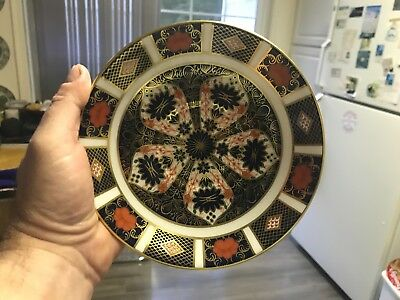 SUPERB Royal Crown Derby OLD IMARI Cream Soup Bowl SAUCER ONLY   MINT CONDITION