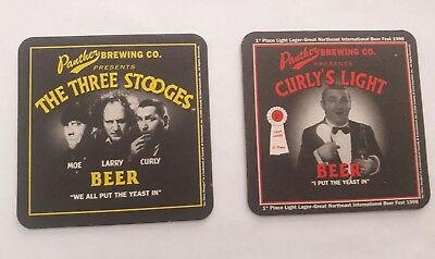 Vintage Three Stooges Beer Ale Advertising Coasters New Old Stock