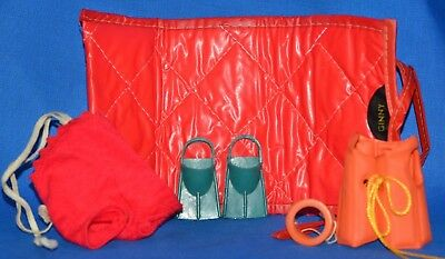 Lot of Ginny Doll Beach Items Mat, Mask, Flippers, Sun Suit, Life Jacket Vintage