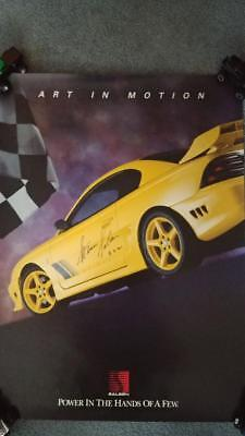 Autographed Saleen Ford Mustang S351 Art in Motion Poster