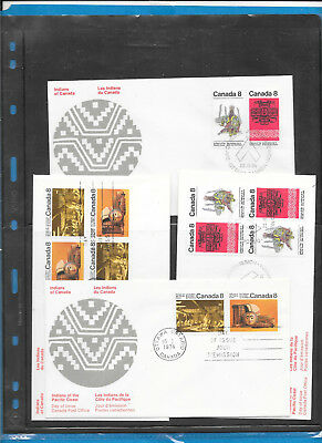 Canada  FDC   Rosecraft     # 570 to 573 Lot 2