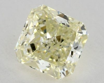 Natural Diamond 1.01 Ct GIA Certified W-X Yellow Color Radiant Cut SI2 Loose