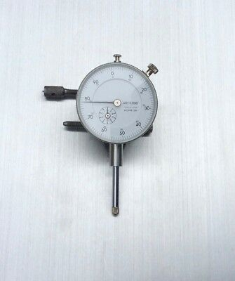 """Mitutoyo Japan 999-380 Dial Indicator .001"""" 0–1"""" Lug Back AGD2 Working Perfectly"""