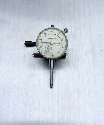 """""""National"""" Mitutoyo Japan Dial Indicator .001"""" 0–1"""" Lug AGD2 Working Perfectly"""