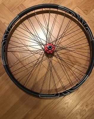Light Bicycle carbon 650B front wheel with Hope Pro 2 hub and Enve decals