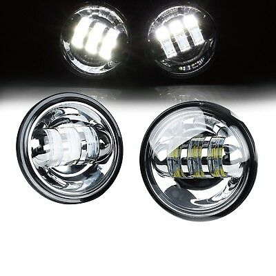"""Xprite 4-1/2"""" 4.5 Inch 60W Cree LED Reflector Passing Light for Harley Davids..."""