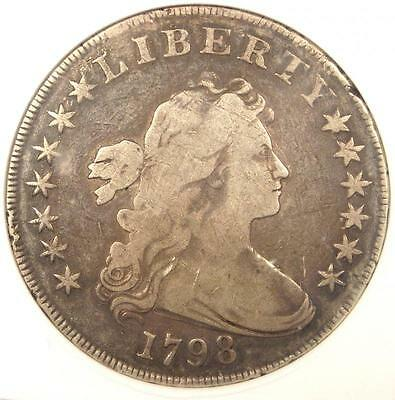 1798 Draped Bust Silver Dollar $1 - ANACS Fine Details / Net VG10 - $1500 Value!
