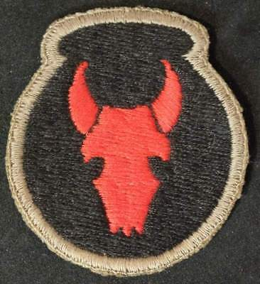 34th ID patch black back OD border english made