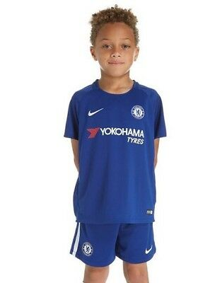 NIKE Chelsea FC HOME Kids Kits Shirt + Short 17-18 SEASON NO:10 HAZARD