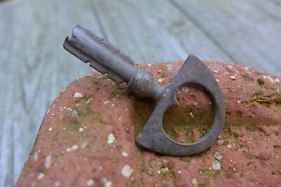 Antique Padlock Key Rust Rare Collectible B