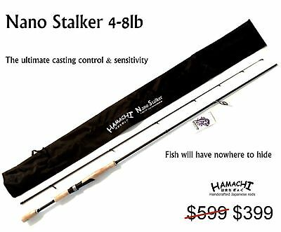 2016 HAMACHI Tackle Japan - Nano ST 4 - 8 LB Japanese micro spin fishing rod