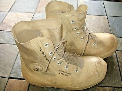 Vintage 1977 Us Military White Bata Extreme Weather Worn Bunny Boots Size 12 R