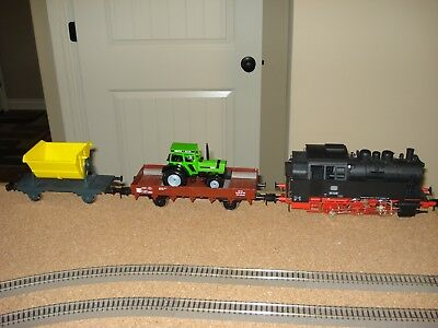 Marklin 0-6-0 Tank Locomotive with sound & 2 freight cars, Free shipping