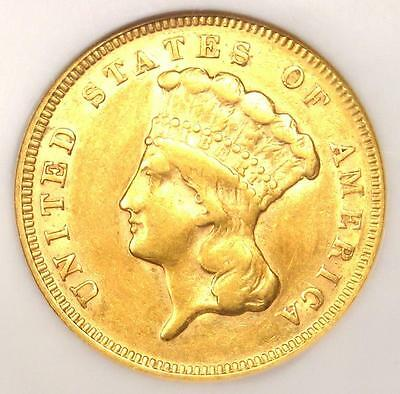 1878 Three Dollar Indian Gold Coin $3 - Certified NGC XF Details - Looks AU!