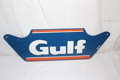 "Vintage 1950's Gulf Tires Tire Gas Station Oil 23"" Metal Sign~Nice"