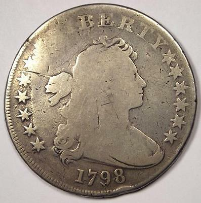 1798 Draped Bust Silver Dollar $1 - Good Details - Rare Type Coin!