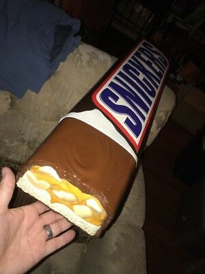 SALE 👀 Giant Snickers Candy Bar Retail Store Display Promo Decor 3D Sign 32""