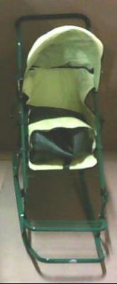 NEW Snow Stroller 4296 Deluxe Baby Push Sled Green $130