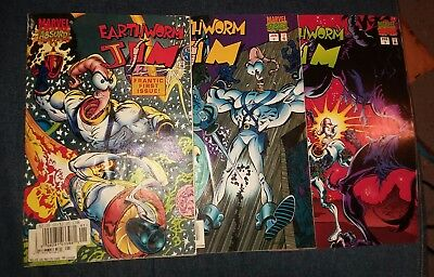 earthworm jim 1 2 3 marvel comics complete set lot movie video game collection