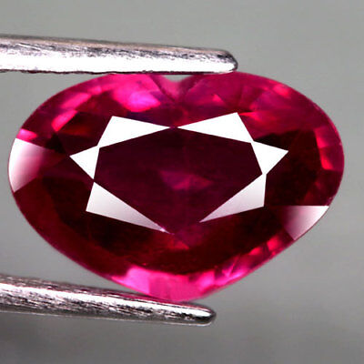 3.21Ct.charming! Heart Facet Pinkish Red Natural Ruby Mozambique