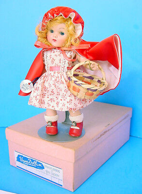 1950s VOGUE GINNY LITTLE RED RIDING HOOD STRUNG DOLL w BOX! WRIST TAG! MINT!