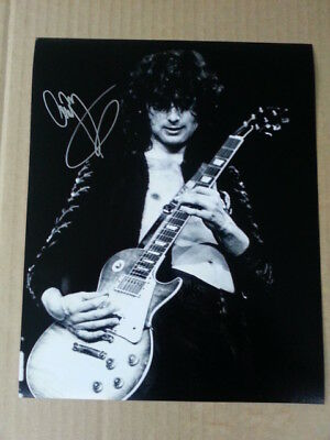 Jimmy Page Led Zeppelin Original Hand Signed Autograph 8 x 10 Photo with COA