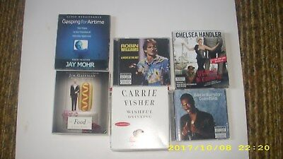Lot of 6 comedy audiobooks on CDs: Robin Williams; Carrie Fisher; Handler, etc.
