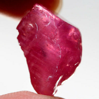18.03Ct.genuine ! Rough Top Blood Red Natural Ruby Madagascar Free Shipp!