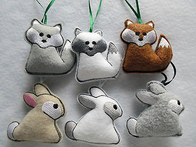 Woodland-Themed-Baby-Mobile-Charms-Fox-Bear-Squirrel-Racoon-Owl-Rabbit-and