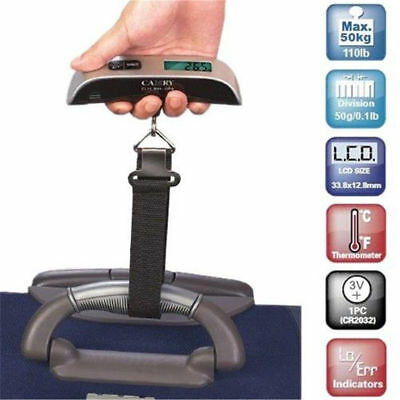 50kg/10g Accurate LCD Digital Hanging Luggage Scale Travel Electronic Weight Top