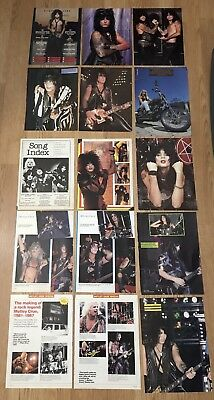 Vintage Vince Neil Motley Crue Nikki Sixx Mick Mars Lot Of 15 Clippings Pinups