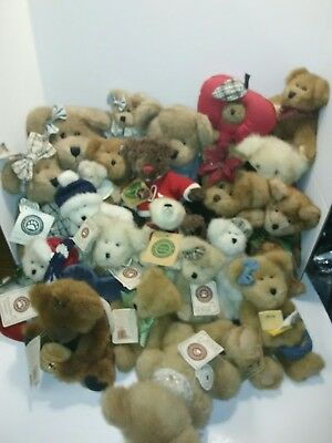 Vintage MIXED LOT of 20 BOYDS  stuffed plush BEARS  Most Have  Tags