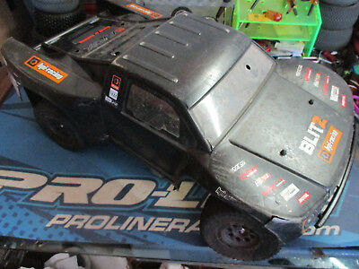 HPI Blitz 1/10 sc truck chassis upgraded
