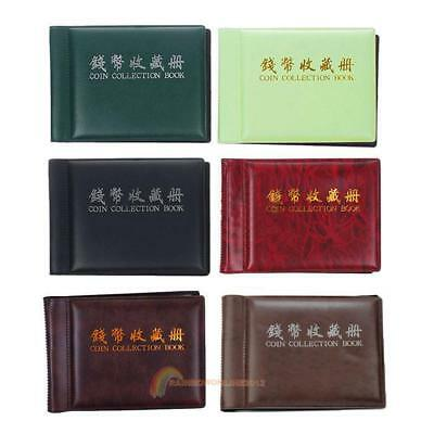 60 Slots Money Penny Pocket Coin Collection Holder Storage Album Book  R1BO